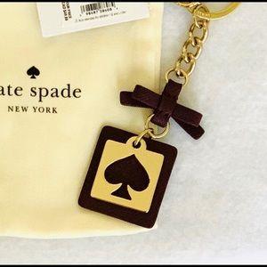Kate Spade Deep Plum FOB Keychain